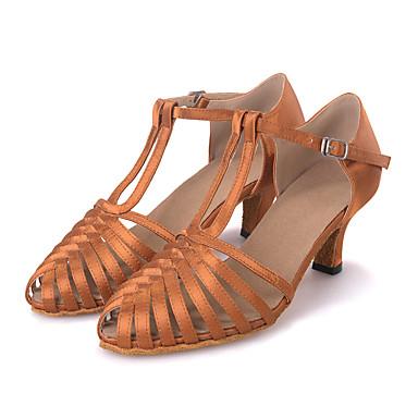 Obyčejné-Dámské-Taneční boty-Latina   Jazz   Moderní    Swing-Satén-Rozšiřující se-Černá   Modrá   Hnědá 5247645 2018 –  23.99 2b9ddf2d14