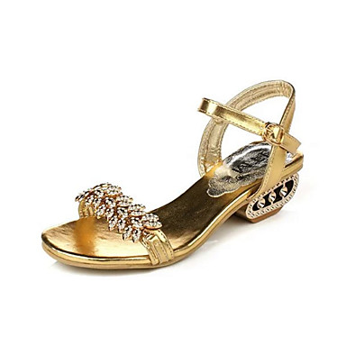 542f398c5 Women s Shoes PU Summer Sandals Low Heel Buckle Black   Silver   Golden  5269181 2019 –  24.99