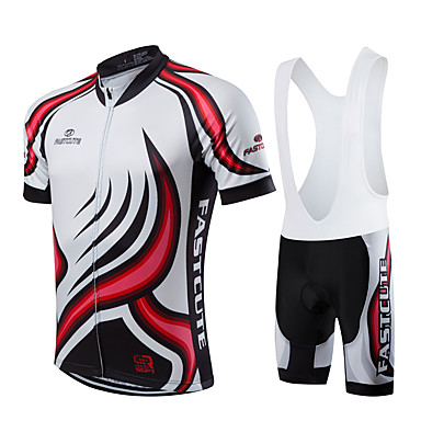 Fastcute Ανδρικά Κοντομάνικο Αθλητική φανέλα και σορτς ποδηλασίας - Μαύρο  Μεγάλα Μεγέθη Ποδήλατο Σορτσάκι με τιράντες Αθλητική μπλούζα Bib Καλσόν  Αναπνέει ... 5f690ca9b15