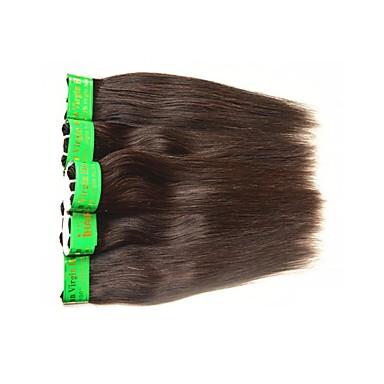 povoljno Ekstenzije od ljudske kose-Indijska kosa Ravan kroj Remy kosa Ljudske kose plete Isprepliće ljudske kose Proširenja ljudske kose / 10A