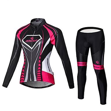 450d95bbd6b1 Malciklo Γυναικεία Μακρυμάνικο Φανέλα με κολάν για ποδηλασία - Μαύρο   Ροζ  Μεγάλα Μεγέθη Ποδήλατο Αθλητική μπλούζα Bib Καλσόν Ρούχα σύνολα Αναπνέει 3D  Pad ...