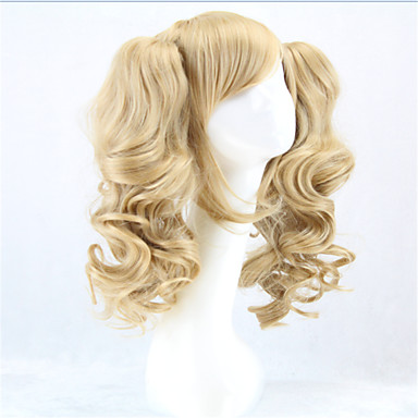 cheap Costume Wigs-Synthetic Wig Cosplay Wig Curly Style With Ponytail Wig Blonde Blonde Synthetic Hair Women's Blonde Wig hairjoy