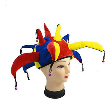 Mehrfarben lustig halloween Spaßvogelhut Clown cosplay Kappe ...