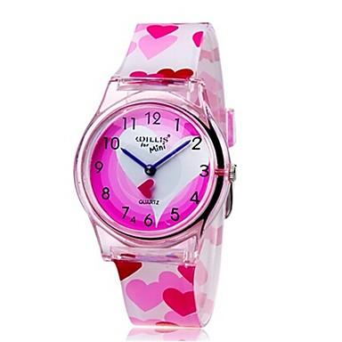 povoljno Ženski satovi-Ručni satovi s mehanizmom za navijanje Kvarc Pink Cool Šarene Analog dame Heart Shape Prženje Ležerne prilike Moda - Pink