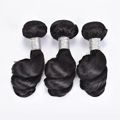 povoljno Ekstenzije od ljudske kose-3 paketa Brazilska kosa Valovita kosa Virgin kosa Ljudske kose plete Isprepliće ljudske kose Proširenja ljudske kose / 10A