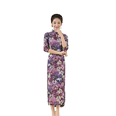 884b30778a58 Traditional Μετάξι Γυναικεία Φούστα Φόρεμα μολύβι Φόρεμα A-Line ...