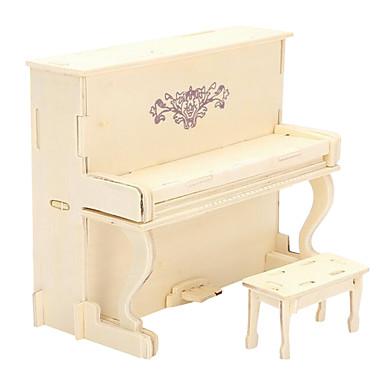 levne 3D puzzle-3D puzzle Dřevěné puzzle Modele Piano Udělej si sám Simulace Dřevěný evropský styl Chlapecké Dívčí Hračky Dárek