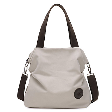 cheap Handbag & Totes-Women's Bags Canvas Tote for Daily Black / Blue / Beige / Gray / Coffee