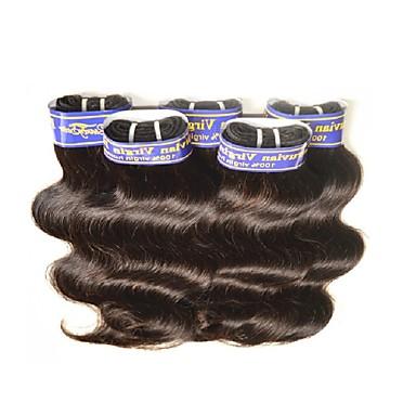 povoljno Ekstenzije od ljudske kose-Brazilska kosa Tijelo Wave Ljudska kosa Ljudske kose plete Isprepliće ljudske kose Proširenja ljudske kose / 8A
