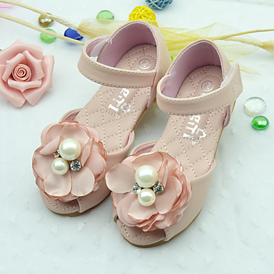 23b64a5ab91 Κοριτσίστικα Παπούτσια PU Καλοκαίρι Σανδάλια Επίπεδο Τακούνι Λουλούδι Μπεζ  / Ροζ 5290726 2019 – $19.99