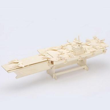 levne 3D puzzle-Puzzle 3D puzzle / Dřevěné puzzle Stavební bloky DIY hračky Letadlová loď Dřevo Zlatá Modelování