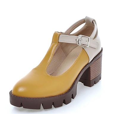 Mujer Zapatos Sintético Semicuero Verano Sandalias Tacón Robusto Puntera abierta Lentejuela Hebilla Para Boda Casual Vestido Fiesta y OFOoX504j