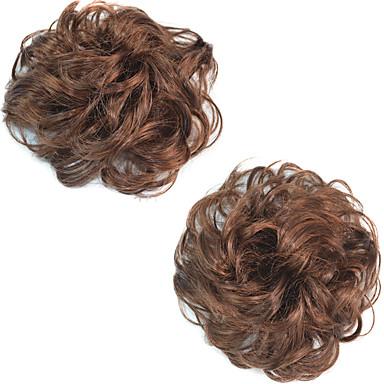 povoljno Perike i ekstenzije-kovrčava svadba updo punđa pahuljasto kolač sintetičke ekstenzije kosa komada za crne žene više boja