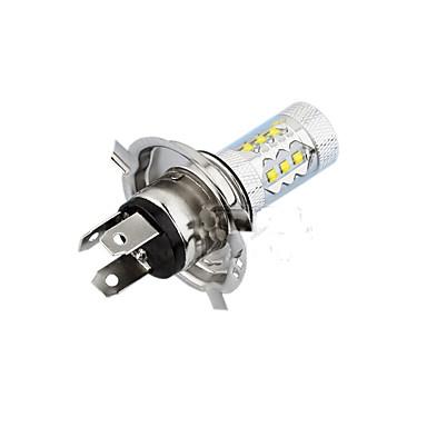 voordelige Autolampen-2 stks H4 LED Auto Gloeilampen 80 W 12 V Mistlamp SMD LED 1200lm LED-koplampen Super Bright H4 voor Universal