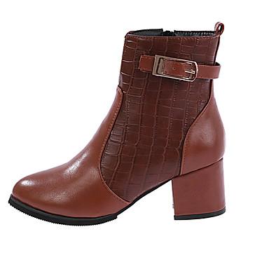 Boty-Kůže-Módní boty-Dámské-Černá Červená Tělová-Outdoor Běžné-Nízký  podpatek 5298443 2019 –  22.99 0d31b333bd