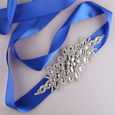 cheap Party Sashes-Satin Wedding / Party / Evening / Dailywear Sash With Rhinestone / Beading / Sequin Women's Sashes