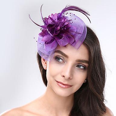 povoljno Party pokrivala za glavu-Perje / Net Fascinators / Šeširi s Cvjetni print 1pc Vjenčanje / Special Occasion Glava