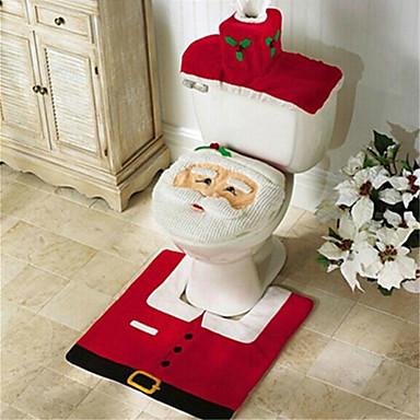povoljno Vjenčanje-santa snjegovića jeleni duh WC sjedalo pokrivač sagova kupaonica s papirnatim ručnikom za božićni poklon novogodišnji dom dekoracije