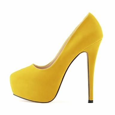 cheap Women's Heels-Women's Heels Stiletto Heel / Platform Fabric Spring / Fall Green / Blue / Almond / Wedding / Party & Evening / Dress / Party & Evening / EU42