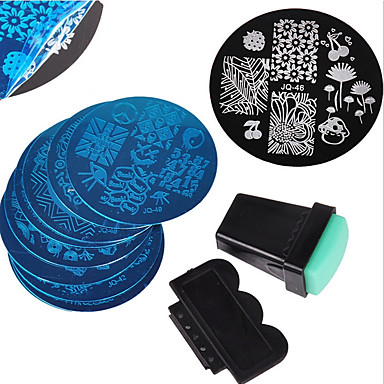 cheap Nail Stamping-12 pcs Stamping Plate Template Fashionable Design nail art Manicure Pedicure Stylish / Fashion Daily / Metal