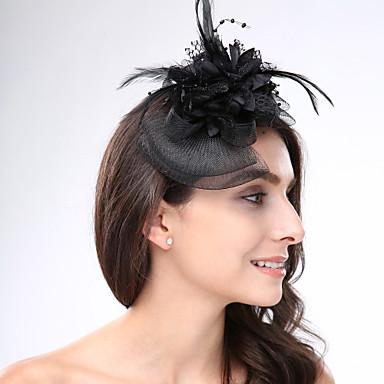 povoljno Party pokrivala za glavu-Perje / Net Fascinators / Šeširi s Cvjetni print 1pc Vjenčanje / Special Occasion / Čajanka Glava