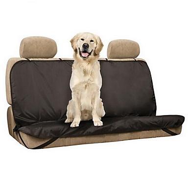 preiswerte Hunde - Beförderung-Hund Auto Sitzbezug Polyester Nylon Haustiere Matten & Polster Solide Wasserdicht Klappbar Schwarz