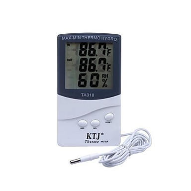 preiswerte Thermometer-KTJ Verkabelt Others Indoor and outdoor electronic hygrometer Weiß / Other