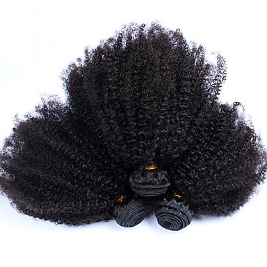 povoljno Ekstenzije od ljudske kose-Indijska kosa afro Kinky Curly Ljudska kosa Ljudske kose plete Isprepliće ljudske kose Rasprodaja Proširenja ljudske kose / 8A
