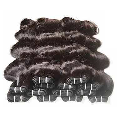 povoljno Ekstenzije od ljudske kose-6 paketića Brazilska kosa Tijelo Wave Virgin kosa Remy kosa Ljudske kose plete 8-24 inch Prirodna boja Isprepliće ljudske kose Žene Za crnkinje 7a Proširenja ljudske kose / 10A