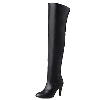 Women's Shoes Boots Spring/Fall/Winter Heels/Fashion Boots/Pointed Toe Office Career/Dress/Casual Stiletto Heel Zipper 5296937 2018 – $53.99