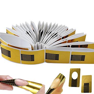 preiswerte Nail Forms-100 Stück Nagel-Kunst-Werkzeug Für Langlebig Nagel Kunst Maniküre Pediküre Einfach / Klassisch Alltag