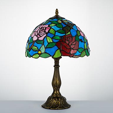 Lampade Stile Tiffany Economiche.98 85 Stile Tiffany Tradizionale Classico Ad Arco Lampada Da Scrivania Per Resina 110 120v 220 240v