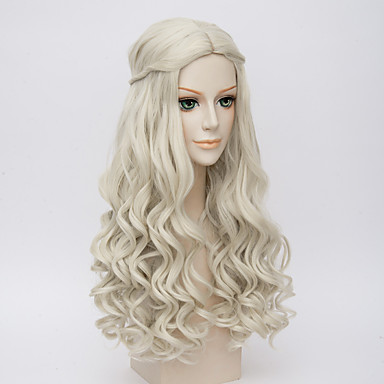 Synthetic Hair Wigs Wavy Braided Wig Middle Part Cosplay