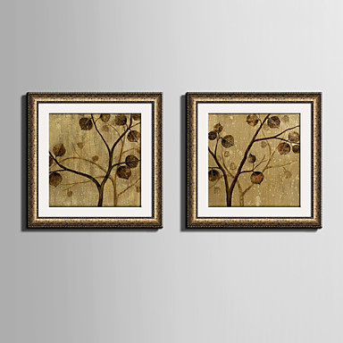 E-HOME® Framed Canvas Art, The Yellow Leaves on The Tree Framed ...