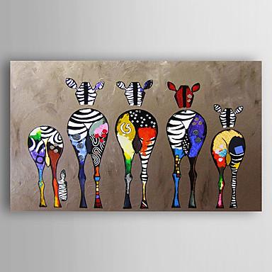 povoljno Ukrašavanje zidova-ručno oslikano platno životinjskog ulja ulje pet šarene zebre moderne umjetnosti rastegnut spreman objesiti