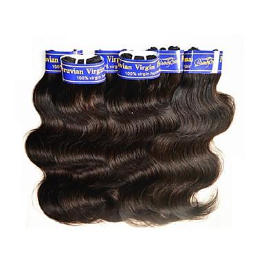 povoljno Ekstenzije od ljudske kose-Peruanska kosa Tijelo Wave Virgin kosa Ljudske kose plete Isprepliće ljudske kose Proširenja ljudske kose / 10A