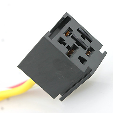 IZTOSS 12V 60 70 80 Amp Bosch Style Automotive Relay Harness Socket with 11AWG and 18AWG gauge wire