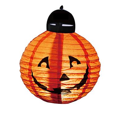 1 Pcs Halloween Decoration Led Paper Pumpkin Light Hanging Lantern