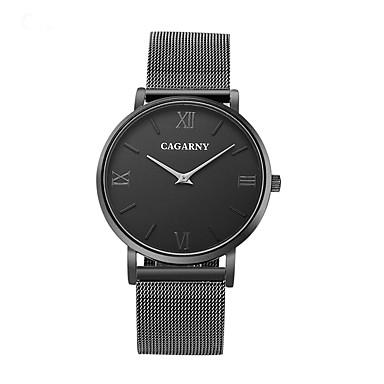 levne Pánské-CAGARNY Pánské Náramkové hodinky Křemenný Nerez Černá / Bílá Hodinky na běžné nošení Cool / Analogové Vintage Na běžné nošení Módní Minimalistické - Bílá Černá