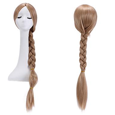 billige Kostymeparykk-Syntetiske parykker Rett Yaki Stil Med hestehale Parykk Blond Mørk blond Syntetisk hår Dame Blond Parykk