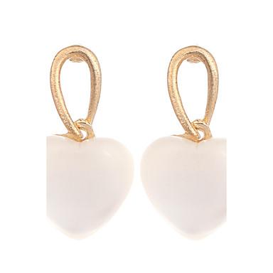 povoljno Modne naušnice-Žene Djevojčice Sintetički opal Mačje oko Chrysoberyl Naušnica Srce dame Vintage Moda Pozlaćeni Opal Naušnice Jewelry Gold / bijela Za Vjenčanje Party