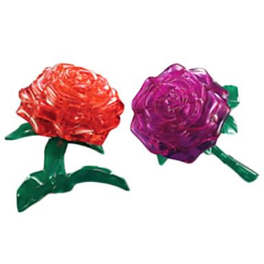 levne 3D puzzle-Puzzle 3D puzzle / Křišťálové puzzle Stavební bloky DIY hračky Rose ABS Stříbrná Modelování