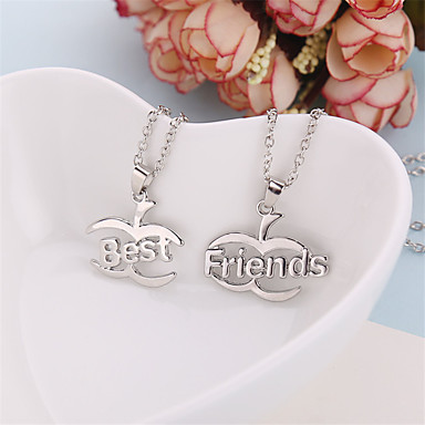 cheap Pendant Necklaces-Men's Women's Pendant Necklace Fruit life Tree Best Friends Friendship Relationship Work Casual European Fashion Silver Plated Alloy Silver Necklace Jewelry For Daily Casual Sports
