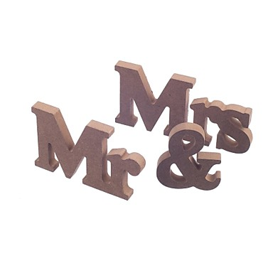 cheap Table Centerpieces-Wooden MR & MRS bridal log lubricious DIY wooden letters wedding furnishing articles