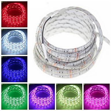 zdm 1 st vattentät ip65 5m flexibel LED-ljusremsor 300 x 5050 smd 10mm leds varm vit rosa kall vit kuttbar länkbar lämplig för fordon självhäftande dc12v