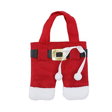 ของเล่นคริสมาสต์ กระเป๋าของขวัญ อาหารของเล่นและชุดน้ำชา Santa Suits สิ่งทอ 2 pcs Toy ของขวัญ