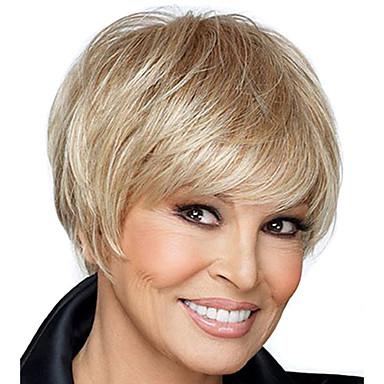 1099 Kurze Glatte Haare Blonde Farbe Synthetische Perücken Für Frauen