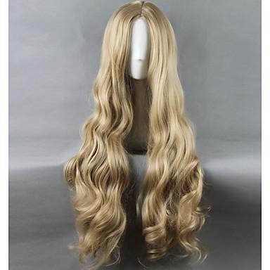 billige Kostymeparykk-Syntetiske parykker Kostymeparykker Rett Stil Parykk Blond Lang Veldig lang Bleik Blond Syntetisk hår Dame Midtskill Blond Parykk