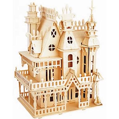 voordelige 3D-puzzels-Houten puzzels Kasteel professioneel niveau Hout 1 pcs Jongens Meisjes Speeltjes Geschenk