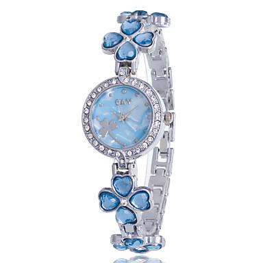 Dámské Náramkové hodinky Křemenný Stříbro S kamínky imitace Diamond  Analogové dámy Květina Na běžné nošení Skládaný Módní - Fialová Růžová Světle  modrá ... 808c0ddea7
